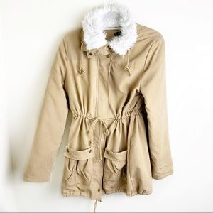 Shein Thick Furry Tie Coat